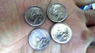 Koin Dipanagara 25 sent thn 1950 & 1952