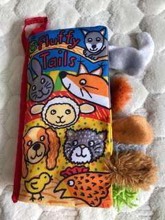 Jollybaby soft book fluffy tails almost new