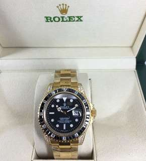Rolex Submarine diamond gold