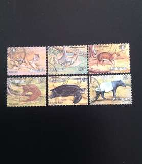 Malaysia 1979 National Animals Series 6V Used (0380)