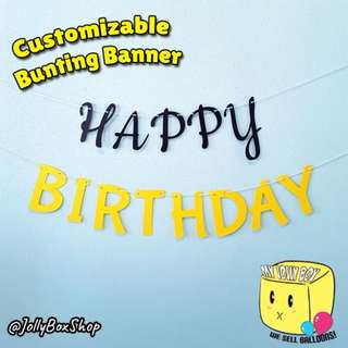 Customizable Bunting Banner For Sale - 2 Color Theme (Black and Yellow) | Crafts by My Jolly 98573128