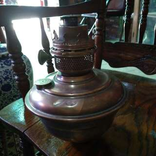 Table lamp tembaga antik