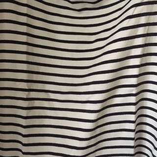 UNIQLO | Striped Blouse in Blue and White | 418-A01