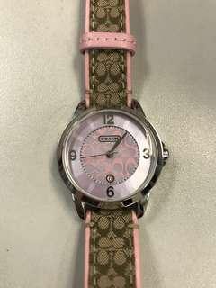 Coach 粉紅色手錶