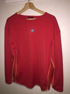 Old School Canterbury dri fit red long sleeve size M