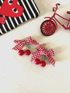 Cherry Ribbon Earrings