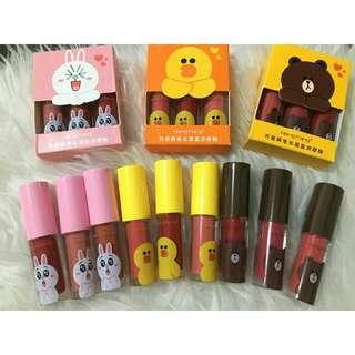 Line lip cream (3pcs)