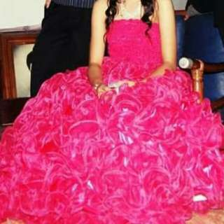 Fushia Pink Gown - my debut gown