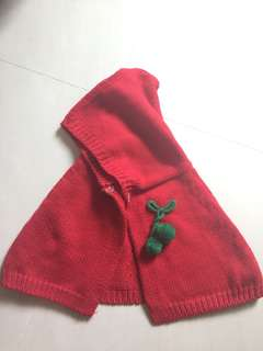 Girl Red riding hood jacket