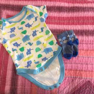 Baby Romper with Sock MotherCare
