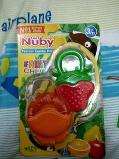 Nuby Teether Combo Pack Fruity (Orange & Strawberry)