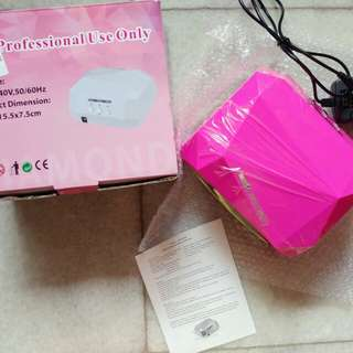 SALE Professional UV LED 36 Watt Sun Diamond Nail Lamp PINK