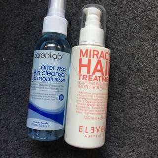 Hair straightener + after wax products