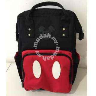 Mickey Mouse Baby Diapers Backpack Bag + Therma Bottle Bag Read
