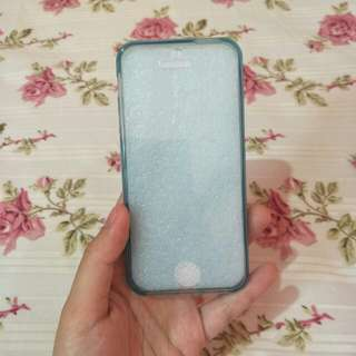 Softcase silicon case ultra-thin Blue (Iphone 5S)