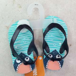Brand new gymboree shark flip flop