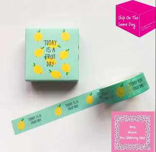 Set of 5m Lemon Washi Tape