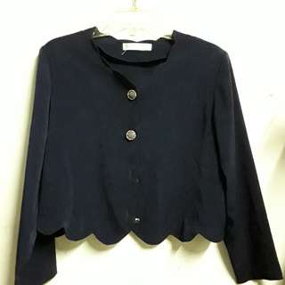 Dark blue 2 in 1 blouse/chaleco
