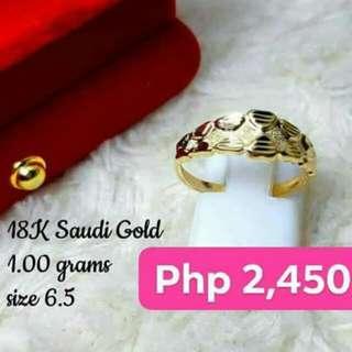 Saudi gold ring
