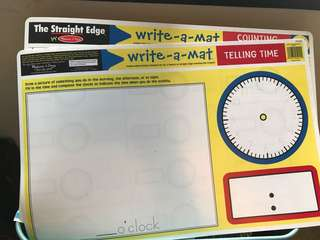 Melissa & Doug WRITE A MAT - time and numbers