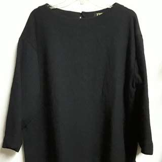 Oversized black sweater /Tops