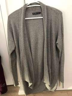 A&F Grey Knit Cardigan
