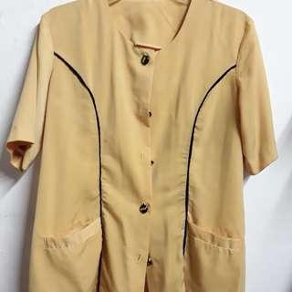 Yellow vintage style Terno
