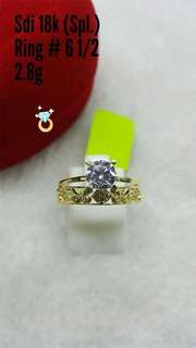 18K SPL SD GOLD RING