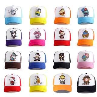 Little Cartoon Hat - FGR541  Design: as attach photo  Size S (suitable for 3-8yo) Size M (suitable for 9-16yo) Size L (suitable for adult)
