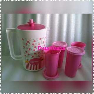 Teko & Gelas Pink Serving Set