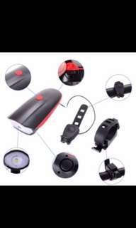 USB rechargeable horn with led light brand new