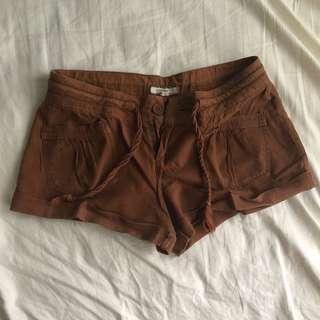 F21 Brown Shorts