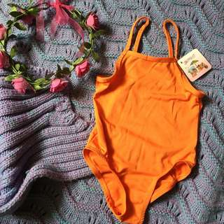 Orange kids onepiece swimsuit (2T)