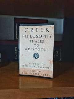 Greek Philosophy : Thales to Aristotle 3rd Edited by Reginald E. Allen