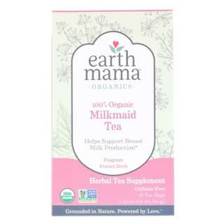 Earth Mama, Organics, 100% Organic Milkmaid Tea, Fragrant Fennel Herb - NEW packaging
