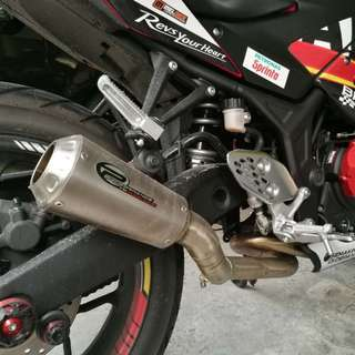 Performance exhaust pipe Yamaha r25  (u-turn, full system)