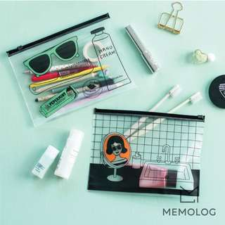 Transparent Pencil Case Travel Makeup Pouch