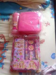 Barbie Stationneries and Frozen Lunch Box