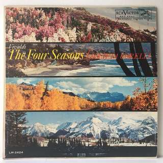 Vivaldi / Societa Corelli ‎– The Four Seasons (1960 USA Pressing - Vinyl is Excellent)