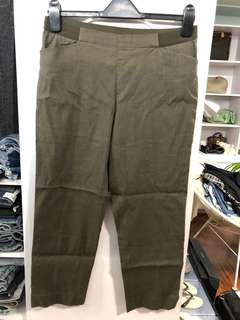 Uniqlo Olive Office Pants W31 L33 - Preloved, Excellent Condition