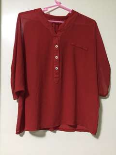 Sheer Red blouse