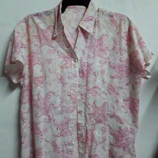 Flowery vintage polo