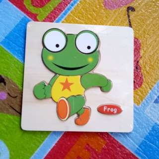 (BNEW) Frog Wooden Puzzle