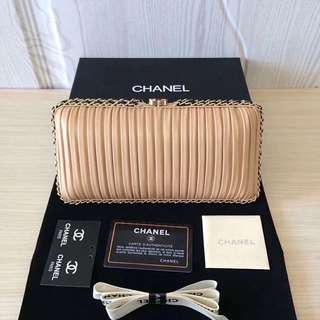 Chanel Pleated Evening Bag