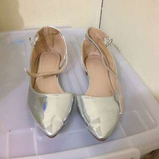 Free shipping silver flats