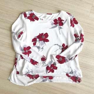 Milktee Floral Top