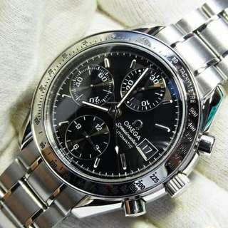Omega Speedmaster Automatic Date black 95% new 全自動 sport