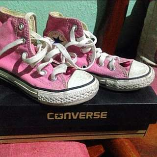 Converse pink high cut sneakers