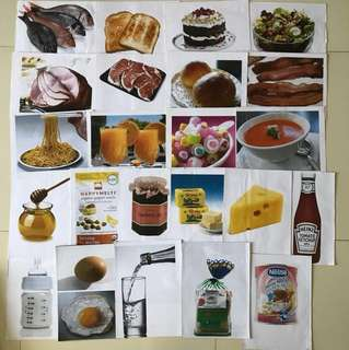 Flashcard shapes things home food kitchen
