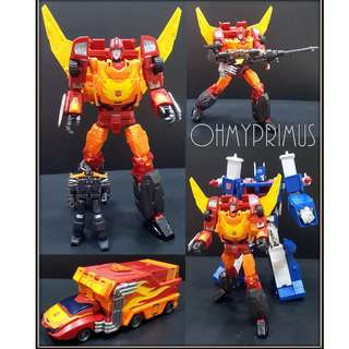 DX9 D06 Carry - Transformers Masterpiece MP Rodimus Prime Hot Rod (Reissue)
